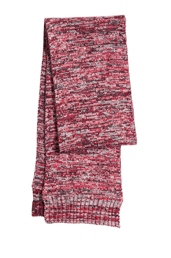 Sport-Tek Marled Scarf-True Red/Black/White