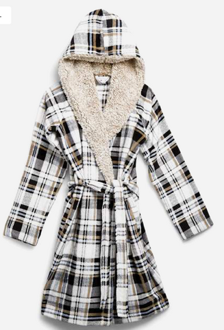Cozy Life Robe-Cozy Plaid Neutral