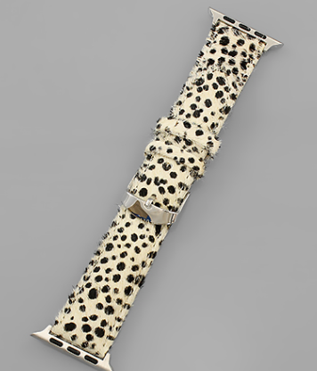 Animal Print SmartWatch Band- Ivory/Leopard