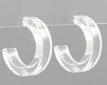 40mm Acrylic Thick Hoops-Clear