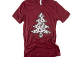Leopard Print Christmas Tree Graphic Tee