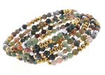 Stones with CH & Coordinating Beads Coil Bracelet