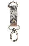 White and Black Hair on Keychain Fob