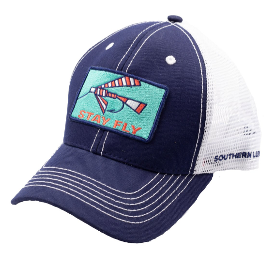 Southern Lure navy and White Fly Patch 2 Trucker Hat