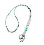 Iconic Breakaway Lanyard Mint Flowers