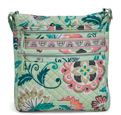 Vera Bradley Triple Zip Hipster Mint Flowers