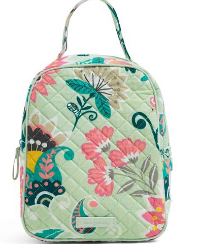 Vera Bradley Lunch Bunch Mint Flowers