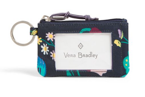 Vera Bradley Lighten Up Firefly Garden Zip ID
