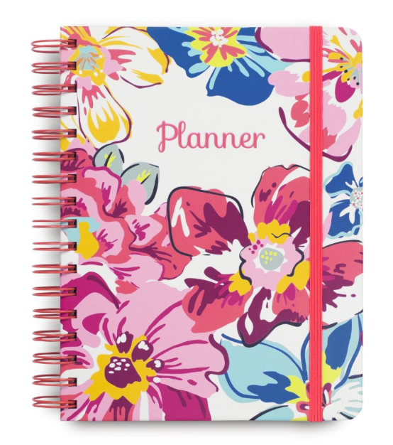 12 Month non-dated planner, Pretty Posies
