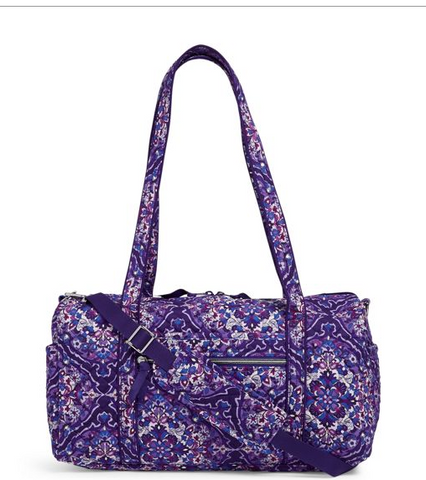 Vera Bradley Iconic Small Travel Duffel Regal Rosette