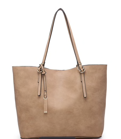 Mocha Monogrammable 2 in 1 Tote Bag