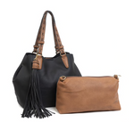 Large Tassel Monogrammable 2 in 1 Satchel