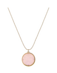 Round natural stone pendant necklace