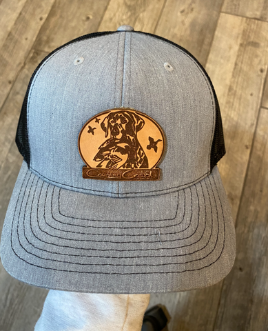 Country Casual Patch Hat Gray and Black