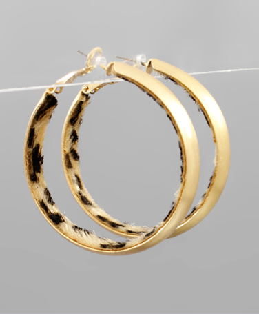 45mm Inside Animal Print Hoops