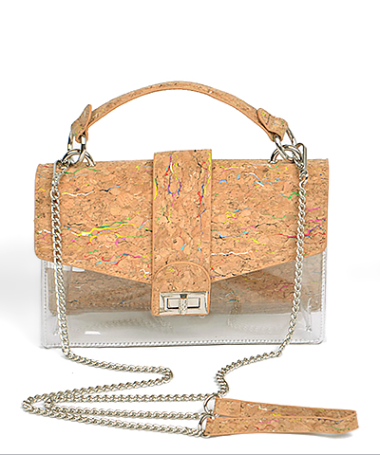 Cork Flap Clear Bag
