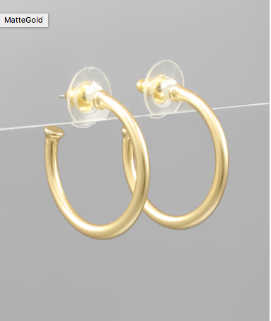 25mm Metal Open Hoops