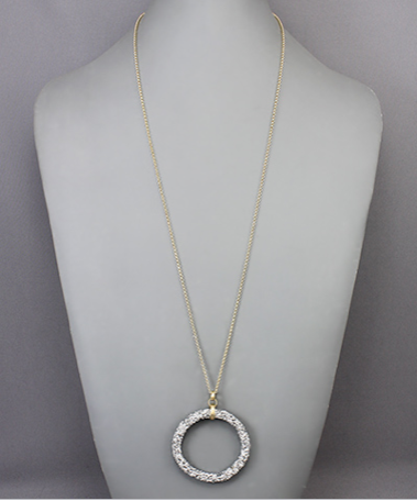 Crystal Cluster Circle Necklace