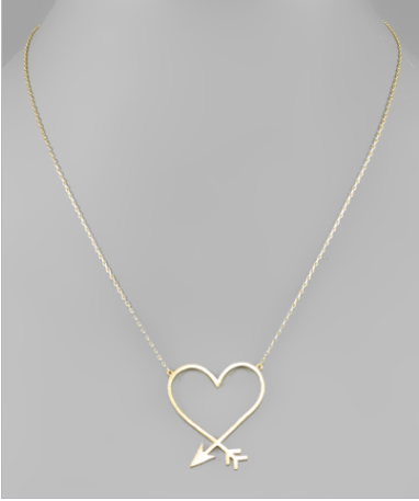 Heart Arrow Necklace