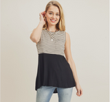 Stripe Tank With Pocket