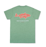 Southern Marsh Delta Fish SS Tee - Washed Hunter Green