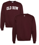 Old Row Script Crewneck - Maroon and White