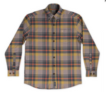 Southern Marsh Sussex Plaid Flannel - Burnt Taupe and Burnt Orange