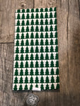 Treeful Hand Towel White/Green