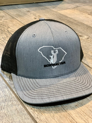 Bow Hunter Structured Gray/Black Trucker Hat