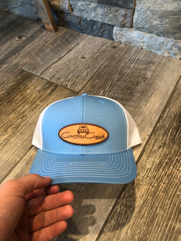 Columbia Blue and White Country Casual Hat