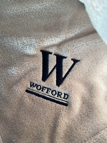 Tan Blanket With Wofford Embroidery