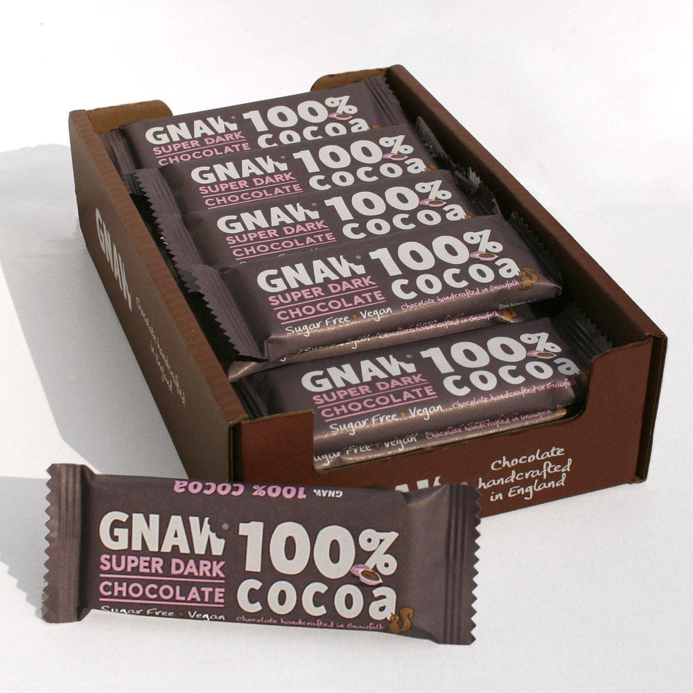 100% Cocoa Super Dark Bars • 35g (x25) • Vegan