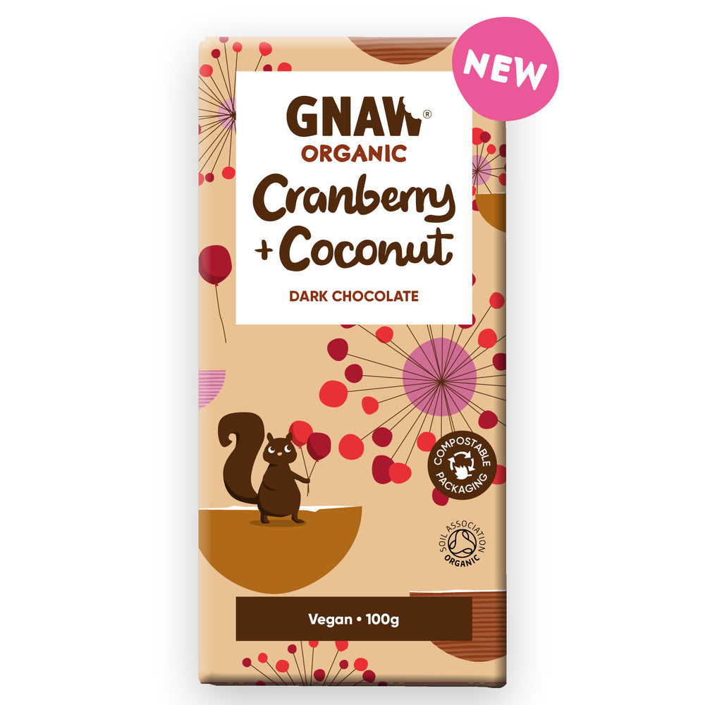 Organic Cranberry & Coconut Dark Chocolate • Vegan NEW 🌱