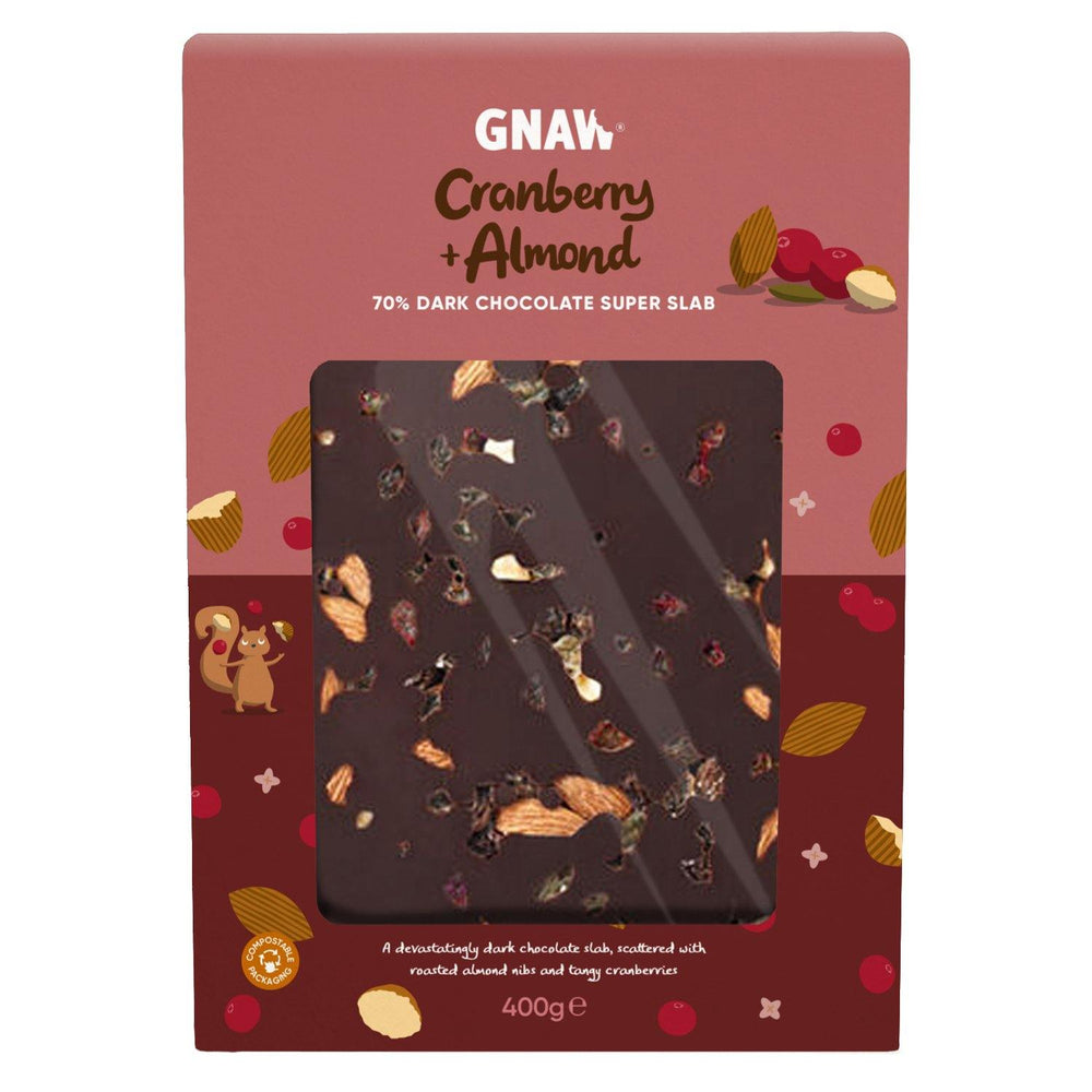 Cranberry & Almond 70% Dark Chocolate Super Slab • Vegan 🌱