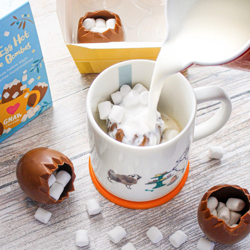 Cracked Egg Hot Chocolate Bombes 🐣