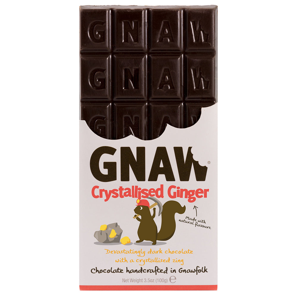 Crystallised Ginger Dark Chocolate Bar