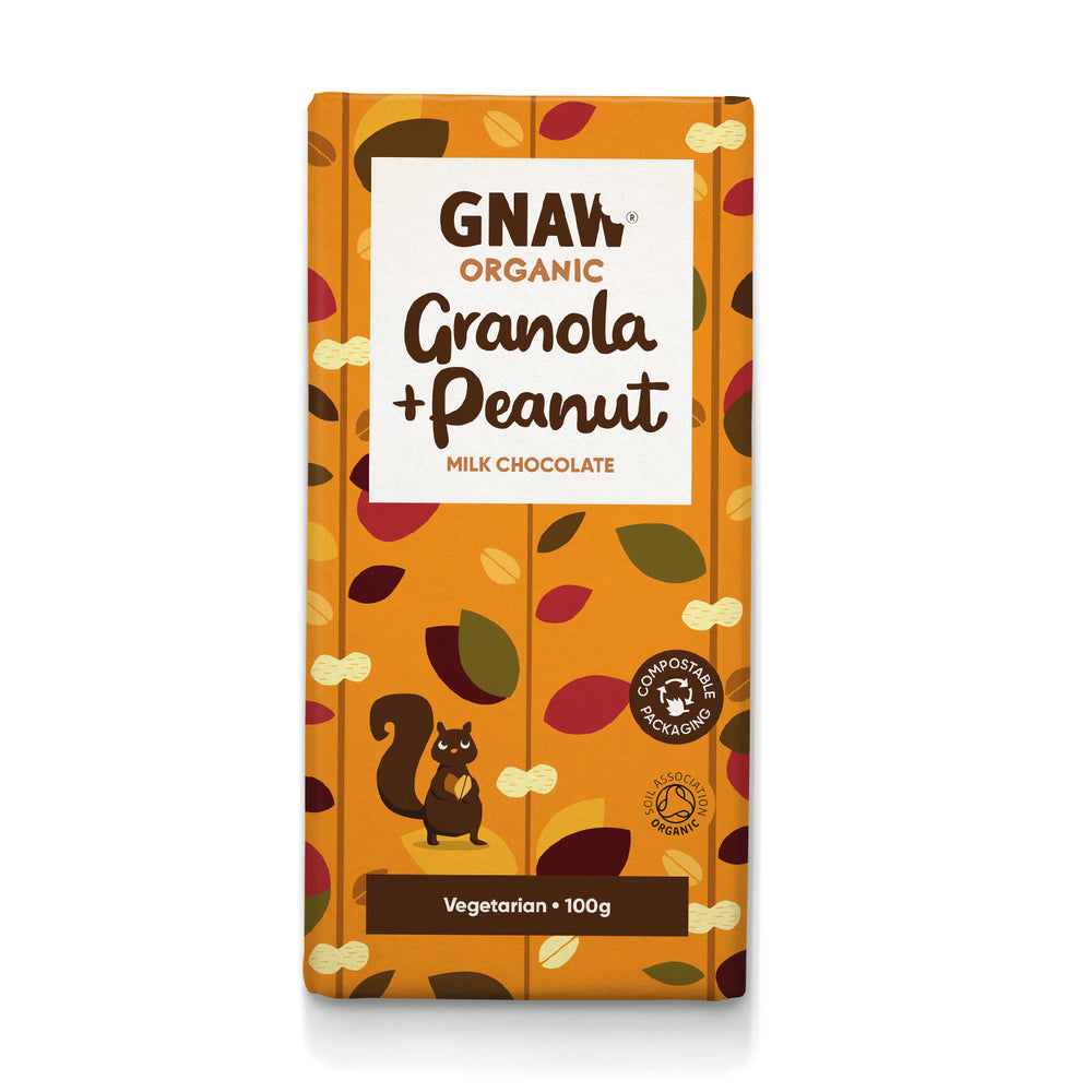 Organic Granola & Peanut Milk Chocolate Bar