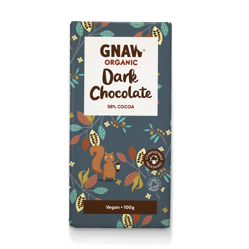 Organic 58% Dark Chocolate Bar • Vegan
