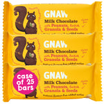Milk Chocolate With British Granola, Peanuts & Seeds • Case 25 x 35g bars