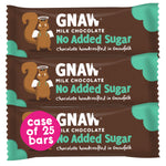 No Added Sugar Milk Chocolate Bars • Case 25 x 35g bars