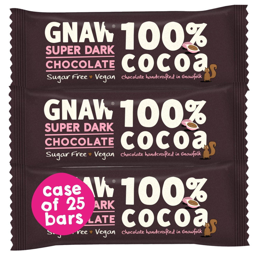 100% Cocoa Super Dark Bars • Case 25 x 35g bars • Vegan 🌱