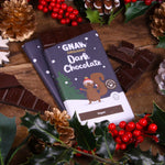 Organic Dark Chocolate Christmas Bar • Limited Edition • Vegan 🌱