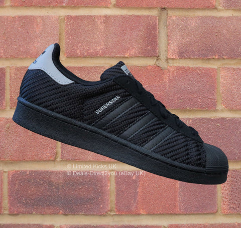 Adidas Originals Superstar (J) - Black/Grey (Mesh)
