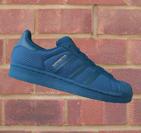 Adidas Originals Superstar (J) - Tech Steel Blue