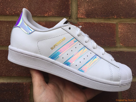 "Adidas Originals Superstar (J) - White/Metallic Silver ""Iridescent"""