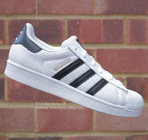 Adidas Originals Superstar (J) - White/Black (Mesh)