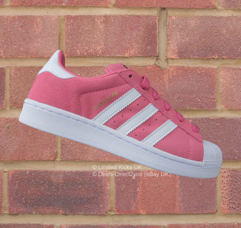 Adidas Originals Superstar (J) - Pink/White (Suede)
