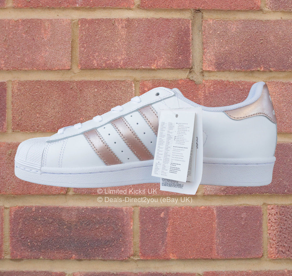 adidas originals superstar women 39 s white rose gold. Black Bedroom Furniture Sets. Home Design Ideas