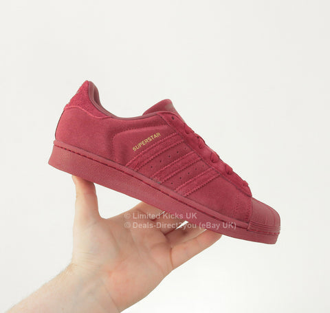 Adidas Originals Superstar (J) - Collegiate Burgundy (Suede)