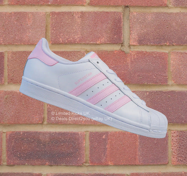Adidas Originals Superstar (J) - White/Clear Pink